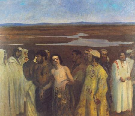 """Joseph sold into slavery by his brothers""  by Karoly Ferenczy, 1900  (Hungarian National Gallery, Budapest)"