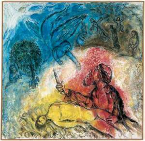 """The Binding of Isaac,"" by Marc Chagall, 1975 (Nice, France)"