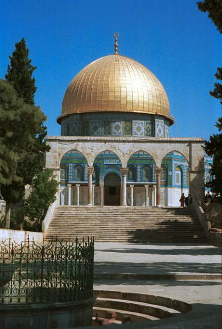 The Dome of the Rock , on top of Mount Moriah today.  Photograph by Mike Levin.