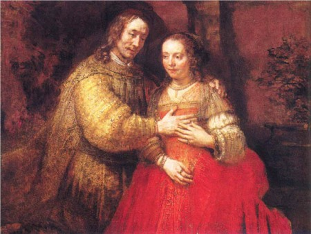 """Isaac and Rebecca"" (better known as ""The Jewish Bride"") by Rembrandt van Rijn (Rijksmuseum, Amsterdam)"