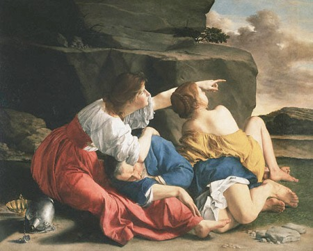 """Lot and His Daughters,"" by Orazio Gentileschi, 1623 (National Gallery of Canada, Ottowa)"