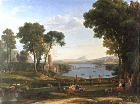 """Landscape with Marriage of Isaac and Rebekah,"" by Claude Lorrain, 1648 (National Gallery, London)"