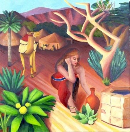 """""""Rebecca"""" by contemporary Israeli-American artist Orit Arfa"""