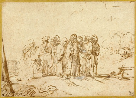 """Christ and the Canaanite Woman""  by Rembrandt, 1650 (The Getty Museum, Los Angeles)"