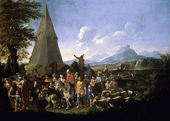 """Jacob and His Family Entering Egypt,"" by Willem Reuter (The Iraq Museum, Baghdad)"