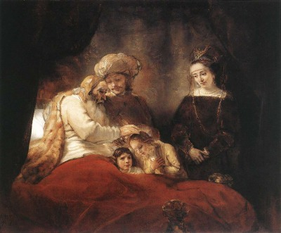 """Jacob Blesses Joseph's Sons,"" by Rembrandt, 1656 (Kassel, Germany)"