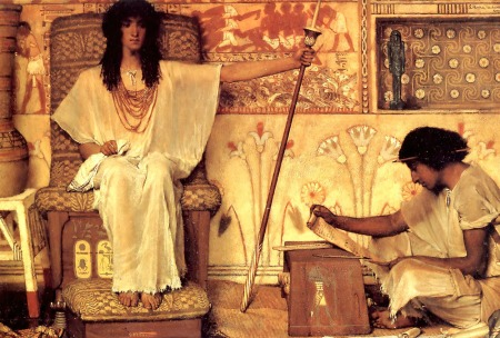 """Joseph, Overseer of the Pharaoh's Granaries,"" by Lawrence Alma-Tadema, 1874 (Dahesh Museum of Art, New York City)"