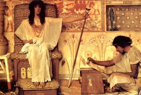 """Joseph, Overseer of the Pharaoh's Granaries,"" by Lawrence Alma-Tadema, 1874 (Dahesh Museum of Art, New York City)"