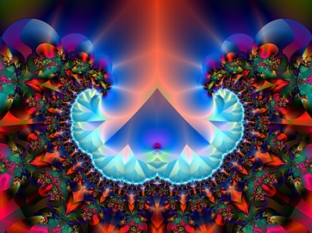 """Pharaoh's Dream"" fractal art by contemporary American artist Doug Harrington"