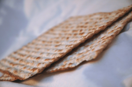Matzoh is a cracker-like flatbread made of plain white flour and water.