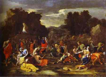"""Gathering of Manna"" by Nicolas Poussin, 1640's (The Louvre, Paris)"
