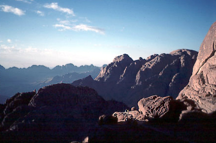 View from Mt. Sinai.  Photograph by Stephan Edelbroich.
