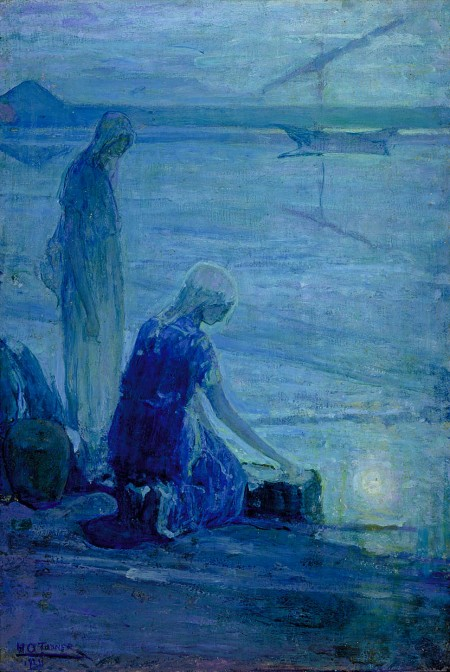 """Moses in the Bulrushes"" by Henry Ossawa Tanner, 1921 (Smithsonian American Art Museum)"