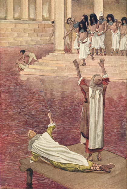 """The Nile Turns to Blood""  by James Tissot"
