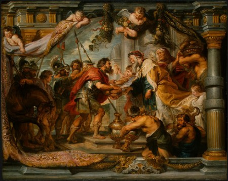 """The Meeting of Abraham and Melchizedek""  by Peter Paul Rubens, c. 1626 (National Gallery of Art, Washington, D.C.)"