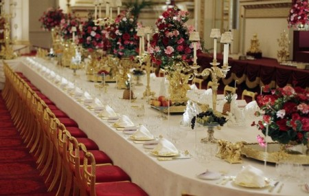 "The Ballroom fo Buckingham Palace was set up for a State Banquet and then opened to tourists in the summer of 2008.  The actual experience of eating with the Queen at such an event is reserved for only a small number of people.  Certainly Joeseph's brothers never imagined that they would have such an experience.  And for us -- just imagine what it will be like when Revelation 19:9 comes true:  ""Then the angel said to me, 'Write, ""Blessed are those who are invited to the wedding supper of the Lamb!""'"""