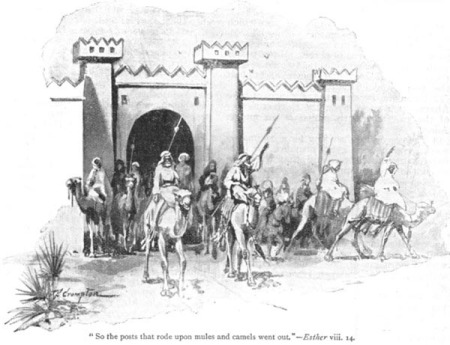"""So the posts that rode upon mules and camels went out."" by James Shaw Crompton"