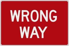 23. wrong way