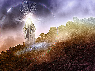 """The Lord on Mount Sinai""  digital art by Ted Larson"