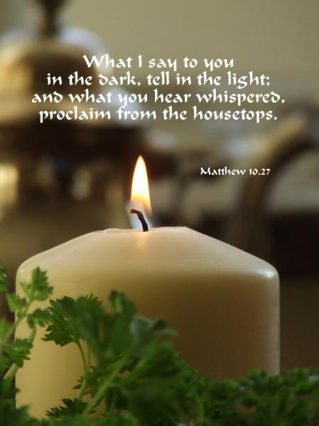 24. Matthew candle