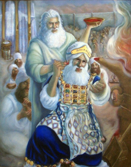 """Moses Consecrates Aaron""  by Darlene Slavujac, 1994"