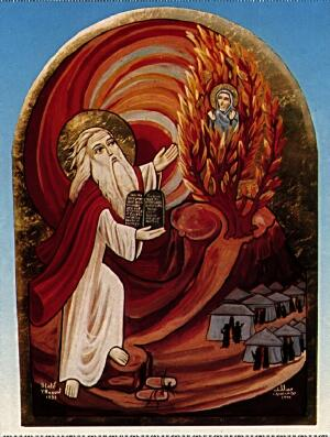 34. Moses facing God