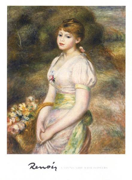 35. Renoir girl with flowers
