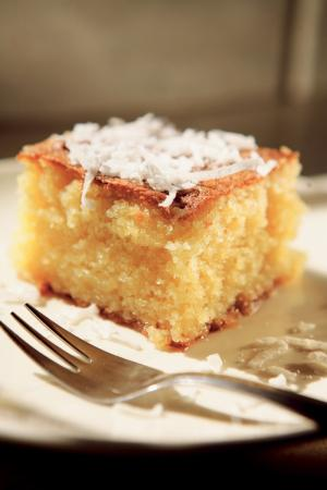 Cake made without yeast -- Semolina cake is popular in Jewish Sephardic homes