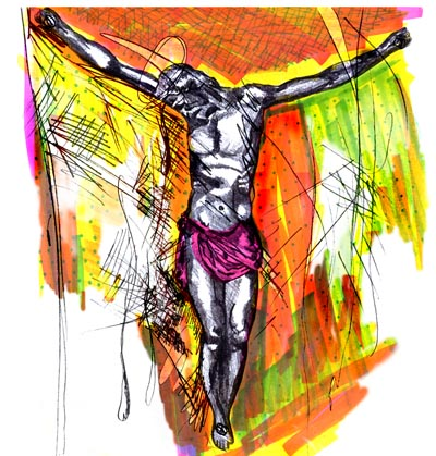 Crucified Christ by T. J. Walsh