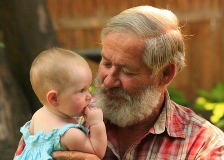 Ephesians 4 Grandpa holding baby