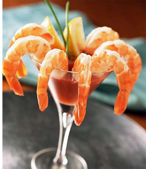 No shrimp cocktail, either.