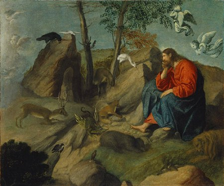 "Moretto da Brescia - ""Christ in the Wilderness"" (Metropolitan Museum of Art)"