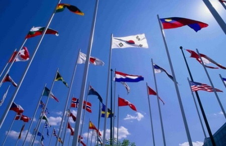 18. flags of many nations