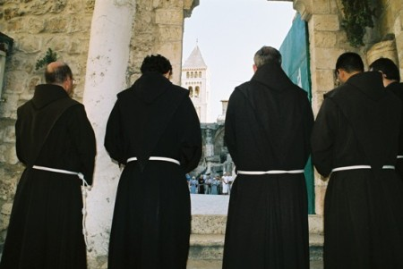 Priests on the Via Dolorosa, Jerusalem