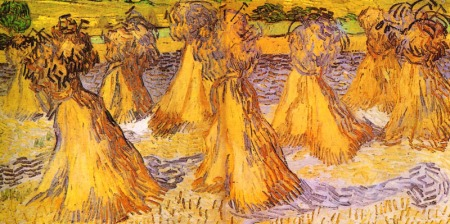 """Sheaves of Wheat""  by Vincent Van Gogh"
