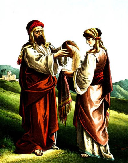 25. Boaz gives wheat to Ruth