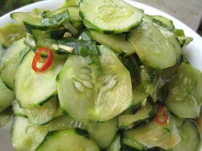 11. cucumber, onion, garlic salad