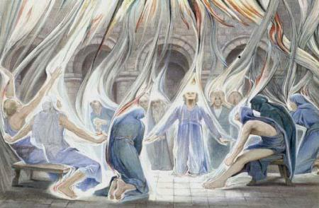 """Pentecost"" watercolor by Estella Canziani, 1936"
