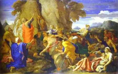 20. Poussin Moses Water Rock