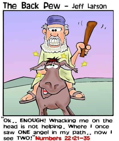 22. Balaams donkey cartoon