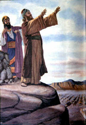 23. Balaam blesses Israel