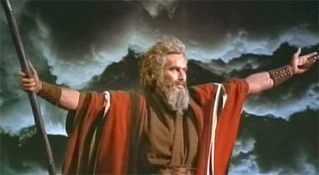 32. Heston as Moses