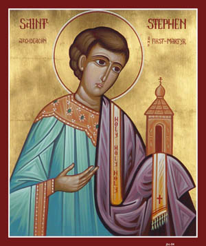 This icon by Nicholas Papas is from St. John the Baptist Orthodox Church in Conemaugh, Pennsylvania.