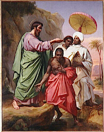 """Philip and the Ethiopian""  by Alexandre Abel Denis de Pujol, 1848 (Musee des Beaux-Arts, Valenciennes)"