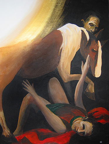 """Conversion of St. Paul,""  contemporary Southern American artist Chris Cook"