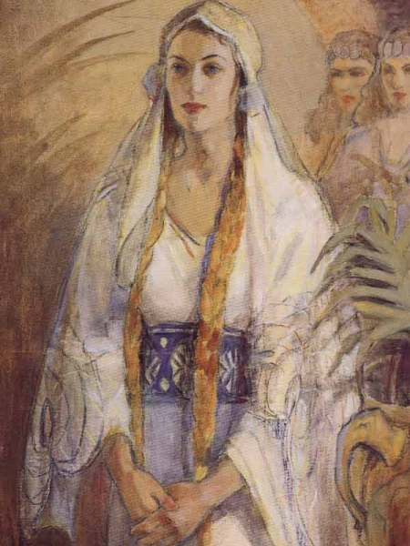 """Esther"" by Minerva Teichert (1888-1976)"