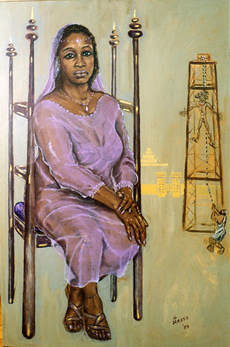 """Queen Esther"" by contemporary painter Fr. Jim Hasse, SJ (to accompany his poem above)"