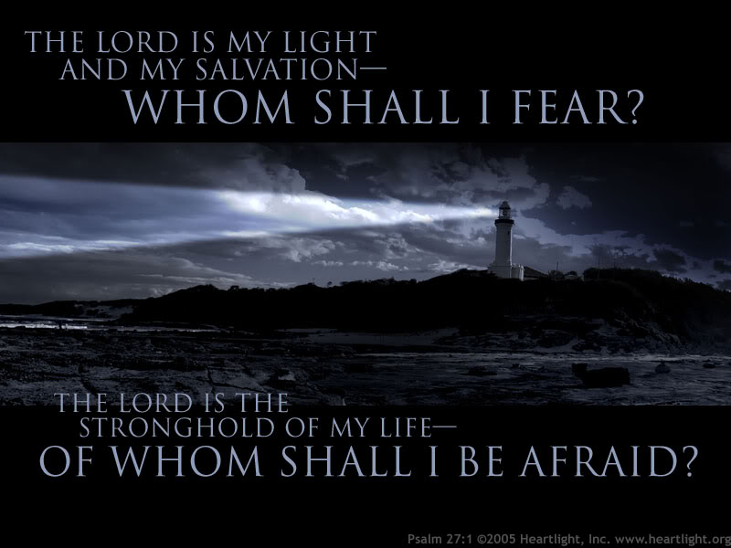 psalm 27 Psalm 27 - niv: the lord is my light and my salvation— whom shall i fear the lord is the stronghold of my life— of whom shall i be afraid when the wicked advance against me to devour me, it is my enemies and my foes who will stumble and fall.