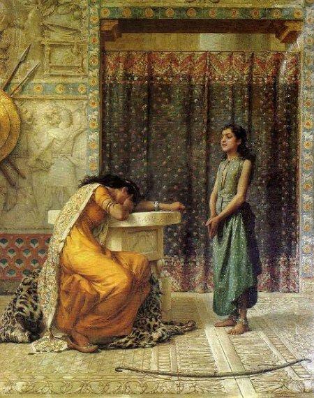 """Naaman's Wife"" by Frank William Warwick Topham"