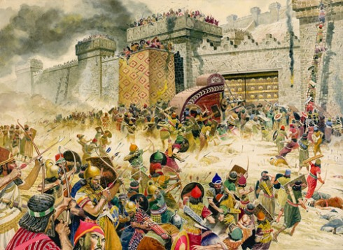 Image result for images of the fall of assyria